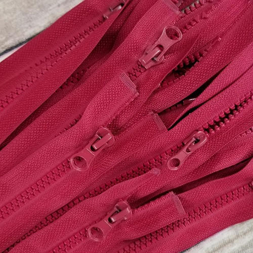 75 cm Separable Zipper: Bordeaux