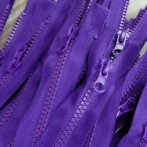 45 cm Separable Zipper: Purple