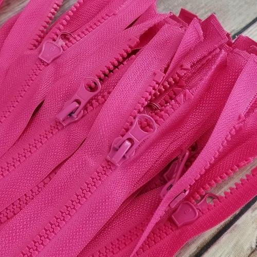 90 cm Separable Zipper:  Fuchsia