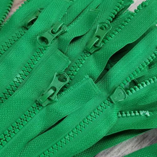 45 cm Separable Zipper: Green