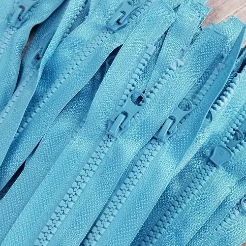 45 cm Separable Zipper: Aqua