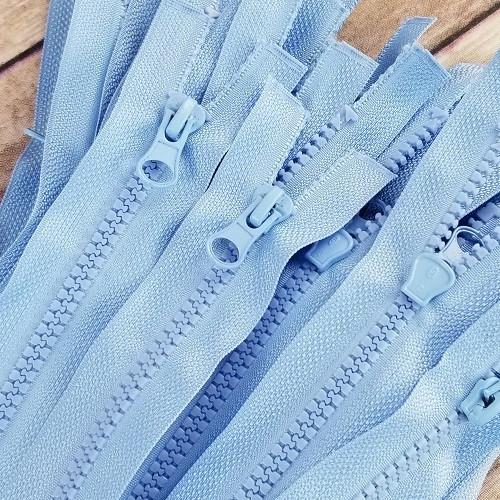 90 cm Separable Zipper:  Sky Blue