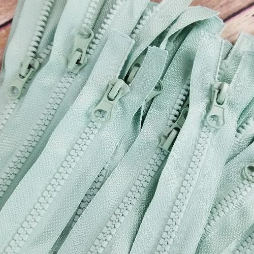 90 cm Separable Zipper:  Antique Green