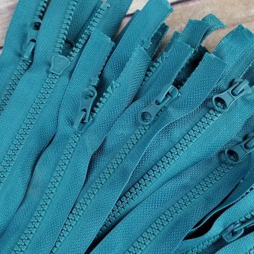 45 cm Separable Zipper:  Teal