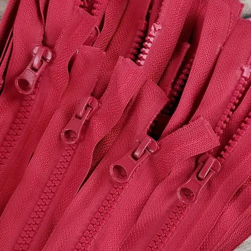 45 cm Separable Zipper:  Apple Red