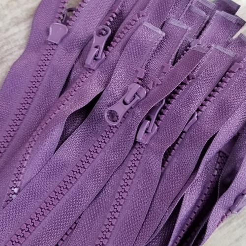 90 cm Separable Zipper:  Plum
