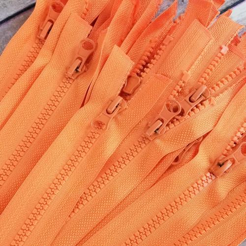 75 cm Separable Zipper:  Orange