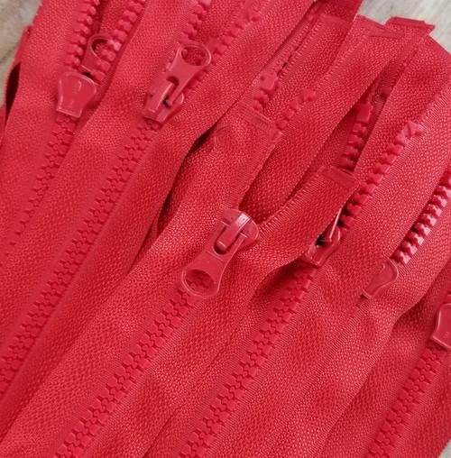 45 cm Separable Zipper:  Red