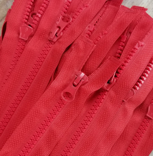 90 cm Separable Zipper:  Red