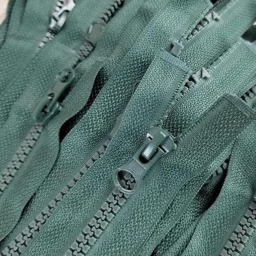 90 cm Separable Zipper:  Juniper Green