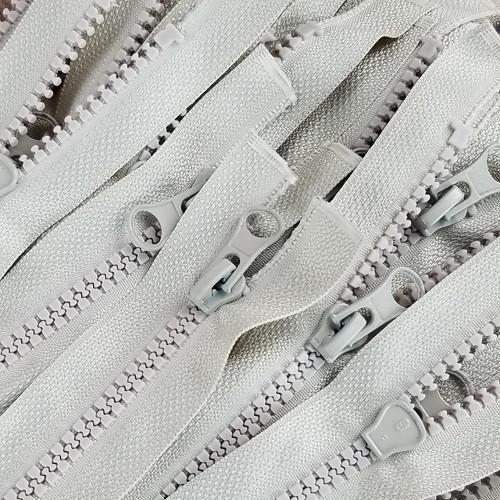 45 cm Separable Zipper:  Ecru