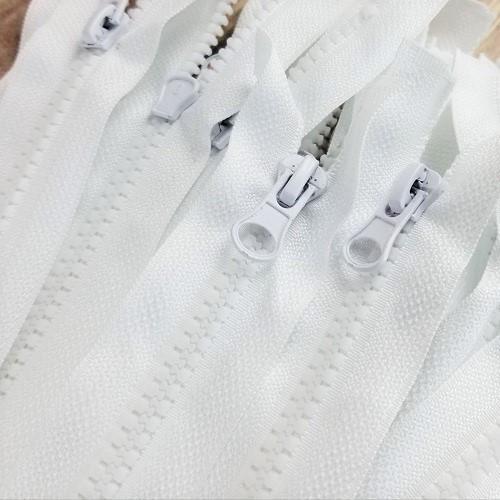 45 cm Separable Zipper:  White