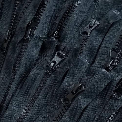 90 cm Separable Zipper:  Black