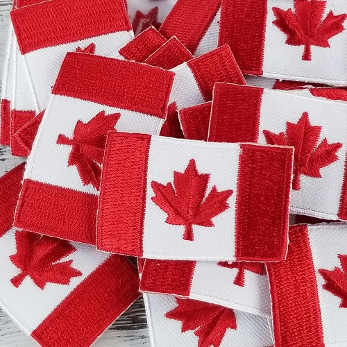Canadian Flag:  Iron-on Applique