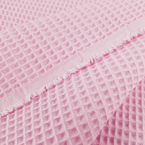 Waffle Cotton:  Bubblegum Pink