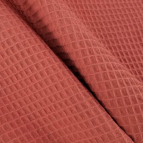 Waffle Cotton:  Terracotta
