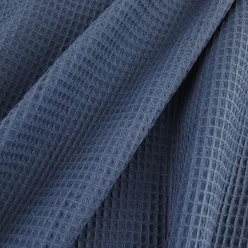 Waffle Cotton:  Denim Blue