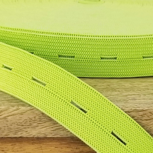 Buttonhole Elastic:  Lime Green
