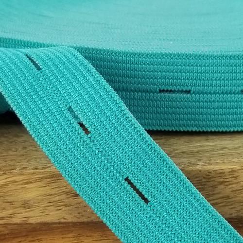 Buttonhole Elastic:  Teal
