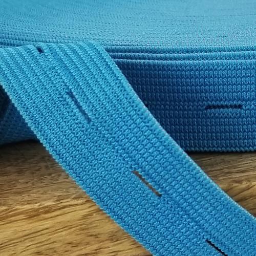 Buttonhole Elastic:  Blue