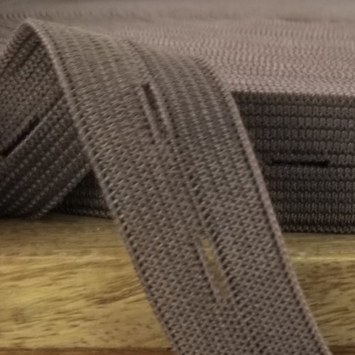 Buttonhole Elastic:  Chocolate Brown