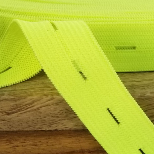 Buttonhole Elastic:  Neon Yellow