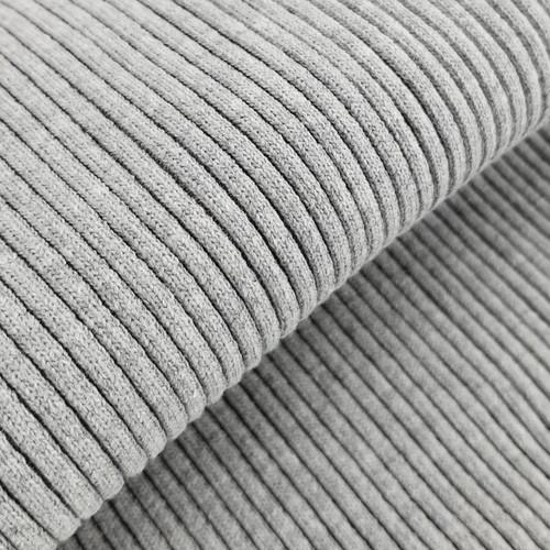 4 x 4 Heavy Ribbing: Heathered Light Grey