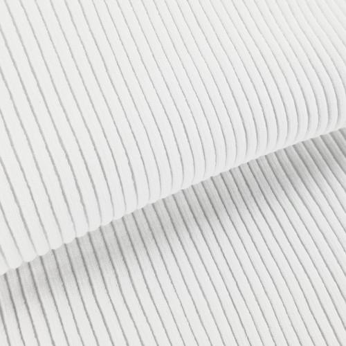 4 x 4 Heavy Ribbing: White