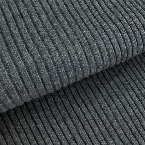 4 x 4 Heavy Ribbing: Heathered Dark Grey
