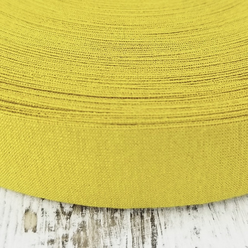 Viscose Knit Bias Binding:  Dijon Yellow