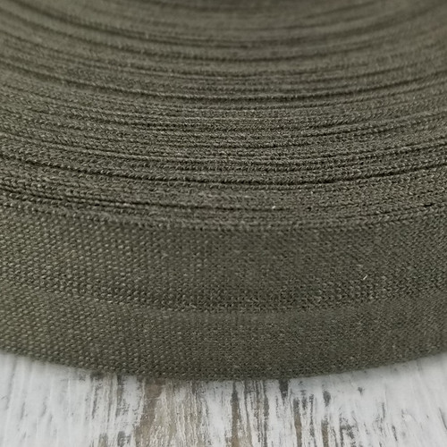 Viscose Knit Bias Binding:  Khaki