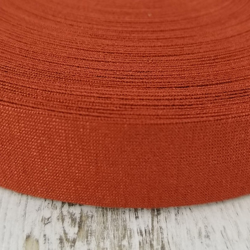 Viscose Knit Bias Binding:  Spice