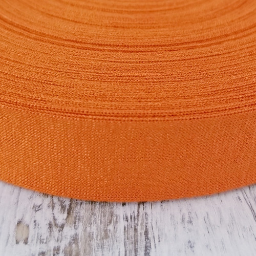 Viscose Knit Bias Binding:  Carrot