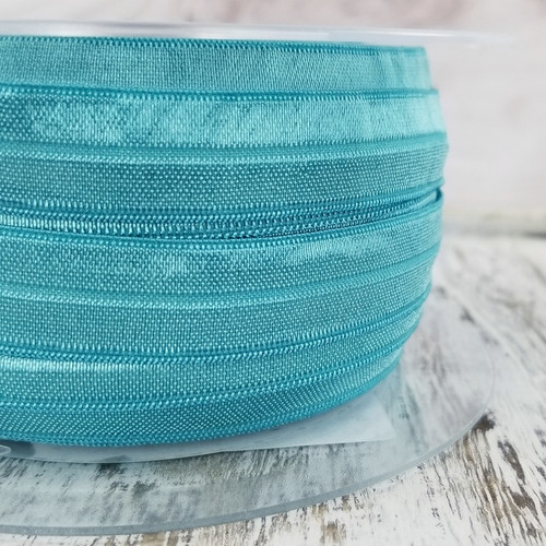 Fold Over Elastic: Ocean Green