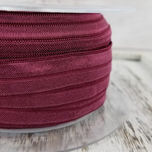 Fold Over Elastic: Mullberry