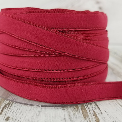 12 mm Flat Lingerie Elastic: Red