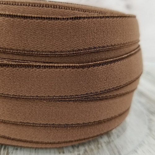 12 mm Flat Lingerie Elastic: Brown