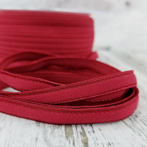 8 mm Flat Lingerie Elastic: Red