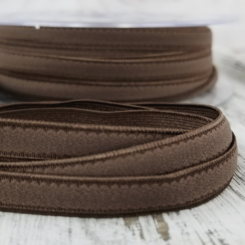 8 mm Flat Lingerie Elastic: Brown