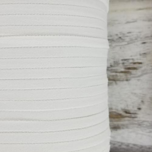 6 mm Soft Mask Elastic:  White