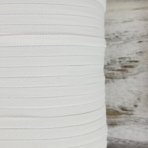 6 mm Soft Mask Elastic:  White