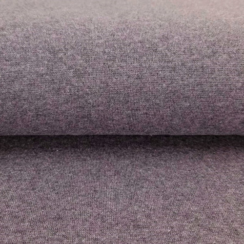 Heike: Heathered Ribbing, Aubergine