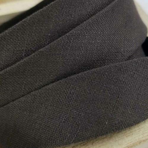 Linen Woven Bias Binding: Brown
