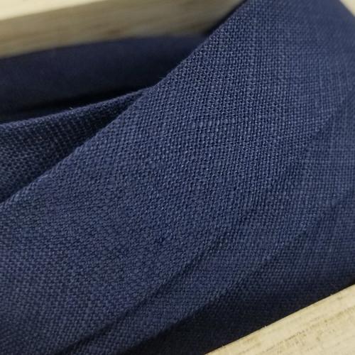 Linen Woven Bias Binding: Navy