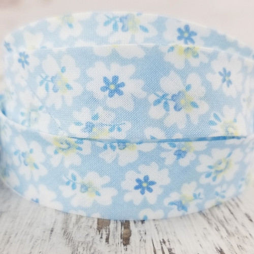 Cotton Woven Bias Binding: Miranda, Blue