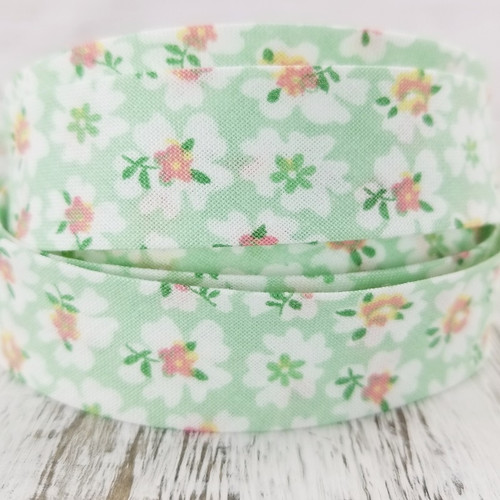 Cotton Woven Bias Binding: Miranda, Green