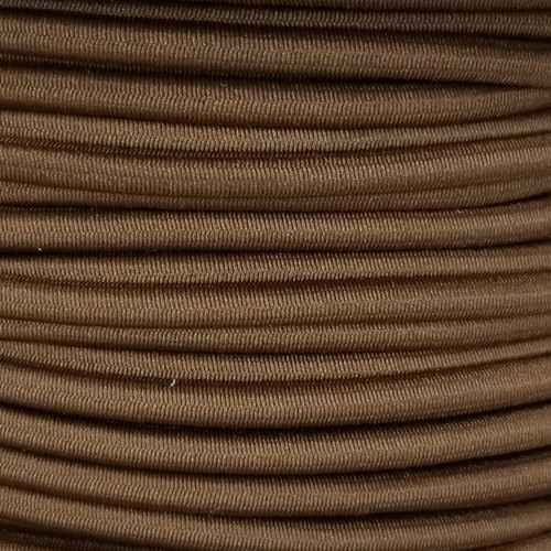 3 mm Elastic Cord: Brown