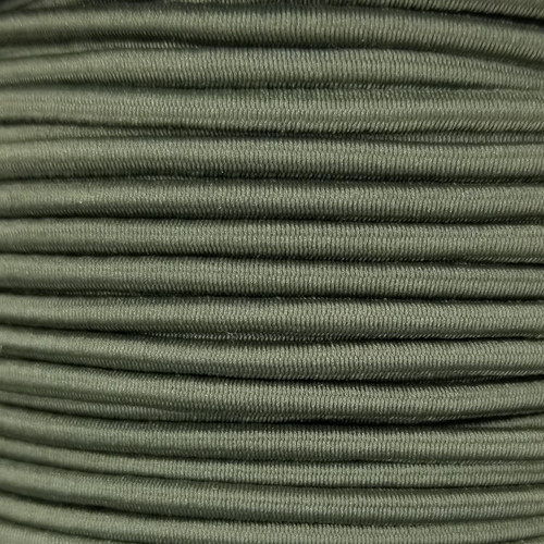 3 mm Elastic Cord: Army Green