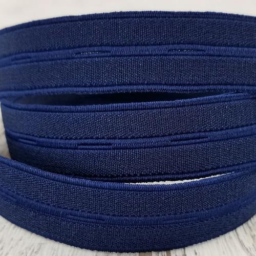 Nylon Buttonhole Elastic:  Navy