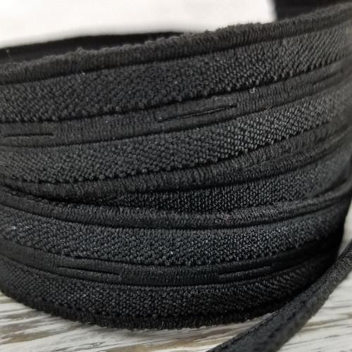 Nylon Buttonhole Elastic:  Black